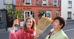 Ruth Ruane (left) and Dr Dilis Clare outside Dr Clare's Apothecary on Sea Road, Galway. Photograph: Joe O'Shaughnessy