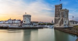 The three towers at the old port of La Rochelle.