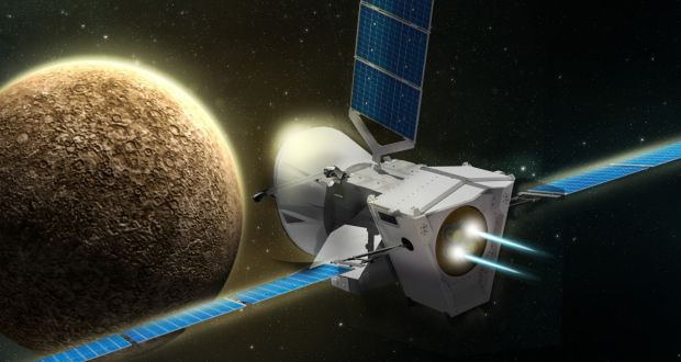 """ba3c96aae1 Artist s impression of """"BepiColombo"""" spacecraft approaching Mercury.  Photograph  Airbus2017 PA Wire"""