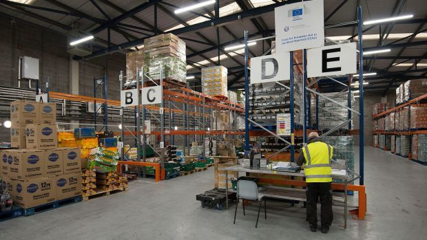 Foodcloud's warehouse in Tallaght. Photograph: Dave Meehan