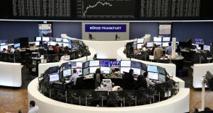 European shares ended in positive territory, breaking a six-day losing streak, after a tentative recovery was lent support in the afternoon by a rally on Wall Street