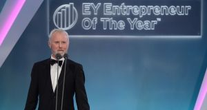 Bill Wolsey of he Beannchor Group, winner of the Industry Award at the EY Entrepreneur of the Year Awards. Photograph: Dave Meehan
