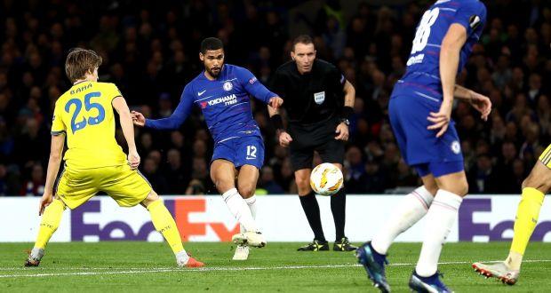 efbc0cbb70f Chelsea s Ruben Loftus-Cheek scores his hat-trick goal during the Europa  League Group