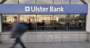 Ulster Bank's total income increased by €3 million, or 1.8 per cent, in the third quarter of 2018 compared with 2017. Photograph: Alan Betson