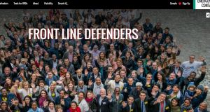 A screengrab from the Front Line Defenders website. The charity has won a UN prize.