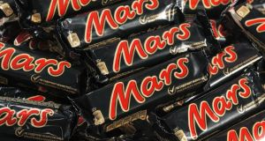 There are 228kcal   in each Mars bars. Photograph: Getty Images