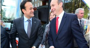 Leo Varadkar and Micheál Martin during the children's referendum campaign in 2012. Those close to both men insist they share no personal animus. File photograph: Bryan O'Brien/The Irish Times