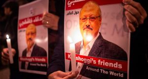 The brutal murder of Jamal Khashoggi has galvanised world opinion against the medieval autocracy in Riyadh, exposing the fatal pact between the west and the House of Saud. Photograph:  Yasin Akgul/AFP/Getty Images