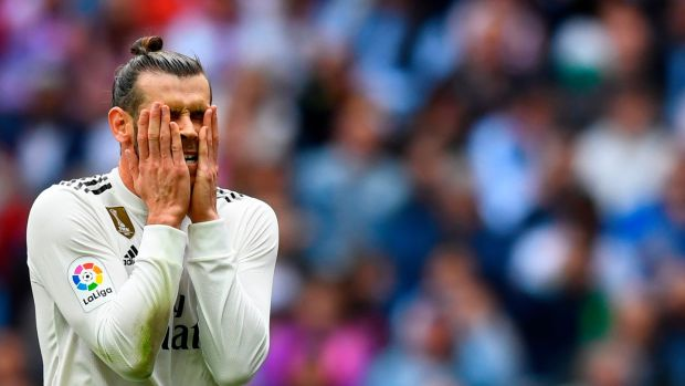 Gareth Bale: lacks Ronaldo's force of personality and the ability to be a real leader on the pitch for Real Madrid. Photograph: Gabriel Bouys/AFP