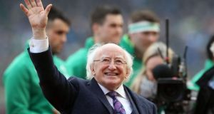 President incumbent Michael D Higgins received 77 per cent of the first preference 'virtual votes' in an Irish Times Abroad online poll of Irish people living overseas this week. Photograph: Brian Lawless/PA Wire