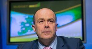 At a meeting with Eir's chief executive and chairman, then minister for communications  Denis Naughten welcomed the acquisition of Eir by French telecommunications conglomerate NJJ. Photograph: Gareth Chaney Collins