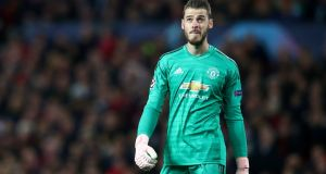 Manchester United's David de Gea. The Spaniard's deal expires next summer, though the club have an option to extend it for a further 12 months. Photograph: Reuters/Hannah McKay