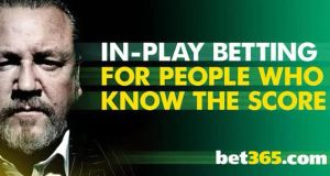 Actor Ray Winstone has become the face of Bet365's in-play advertising. Photo: Screenshot