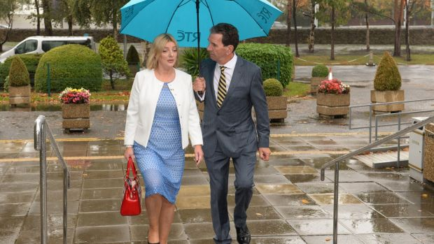 Liadh Ní Riada arrives at RTÉ ahead of a radio debate. Her performance fell far short of Sinn Féin's recent performance in opinion polls.