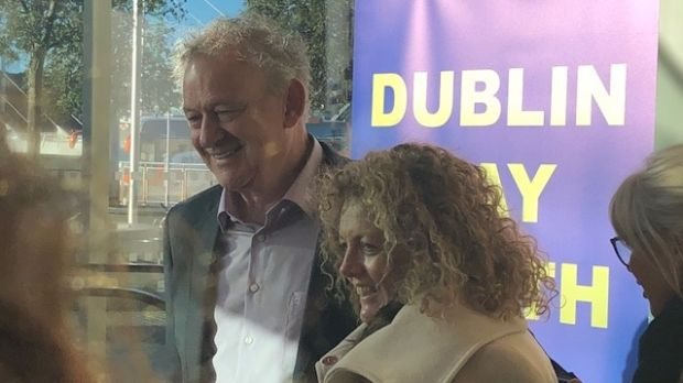 Peter Casey at the Dublin Convention Centre where votes in five of the Dublin consituencies are being counted. Mr Casey's performance was one of the big surprises of the campaign.