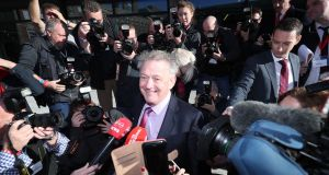 Peter Casey arriving at Dublin Castle. Photograph: Niall Carson/PA