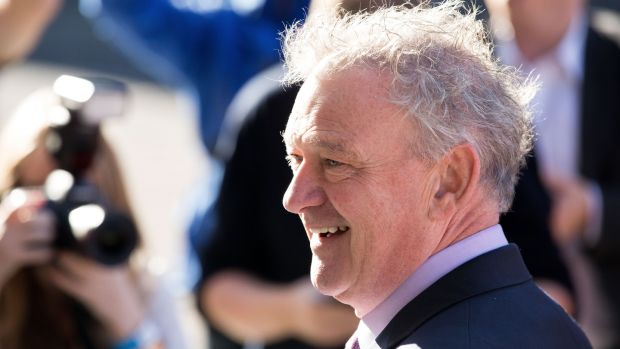 Peter Casey pictured at Dublin Castle on Saturday. Photograph: Tom Honan