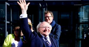 President Michael D Higgins: he won with a resounding majority, the largest ever in a national election. Photograph: Cyril Byrne/The Irish Times