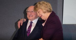 President Michael D Higgins and his wife Sabina. Photograph: Tom Honan/The Irish Times
