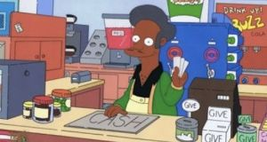 The Simpsons character Apu in the Kwik-E-Mart. Photograph: Fox