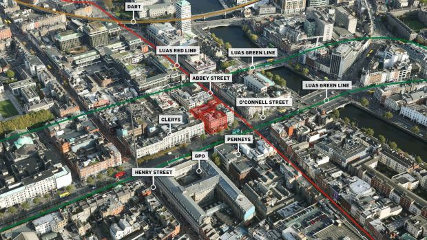 Property portfolio for sale on O'Connell Street, Abbey Street and Sackville Place, Dublin