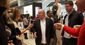 Sir Philip Green at the opening of a new Topshop/Topman store. Photograph: Benjamin Norman/The New York Times