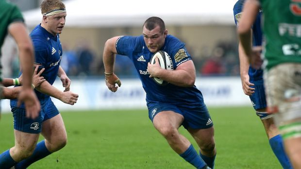 Leinster's Jack McGrath in the Guinness Pro14 clash with Benetton at Stadio Monigo in Treviso. Photograph: Elena Barbini