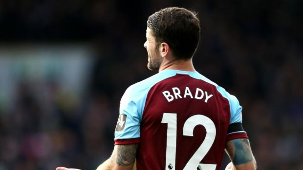 Robbie Brady made his return to action as Burnley were beaten 4-0 by Chelsea. Photograph: Jan Kruger/Getty