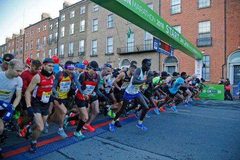 The runners take off at 8.55am.  Photograph Nick Bradshaw/The Irish Times