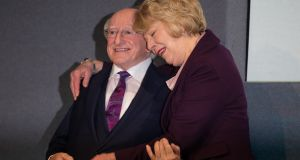 President Michael D Higgins and his wife, Sabina. Photograph: Tom Honan