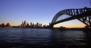 View from Milsons Point of the Harbour Bridge and Opera House in Sydney. Photograph: Nick Wilson