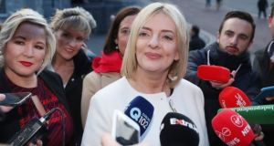 If Peter Casey had not shot up from nowhere to second place, the performance of the Sinn Féin candidate Liadh Ní Riada would have been the story of the election. Photograph: Niall Carson/PA