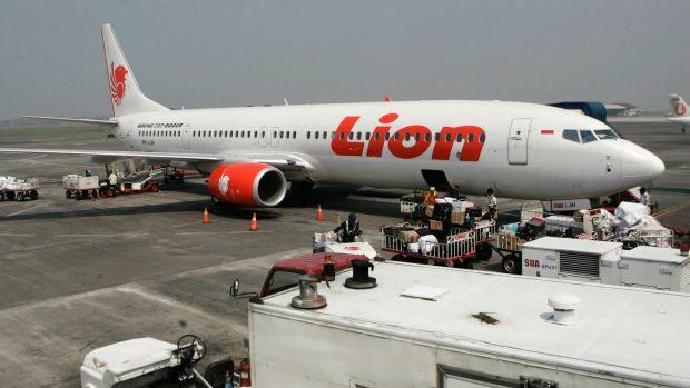 A 2012 file photograph shows a Lion Air passenger jet parked on the tarmac at Juanda International Airport in Surabaya, Indonesia. Photograph: AP Photo/Trisnadi