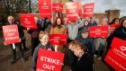 The Irish Heart Foundation and stroke survivors protesting at Beaumont Hospital on Monday, World Stroke Day, over breakdown in essential equipment. Photograph Nick Bradshaw/The Irish Times