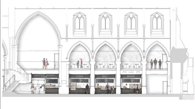 Plans for the new food hall for casual dining