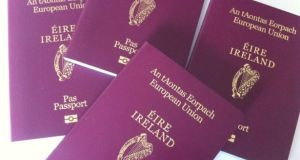 Worldwide, the number of applications for Irish passports received from outside the State surged from 190,905 in 2016 to 227,223 last year. Photograph: Bryan O'Brien