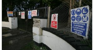 The entrance to the Thornton Hall prison site in north county Dublin in 2008. Photograph: Alan Betson