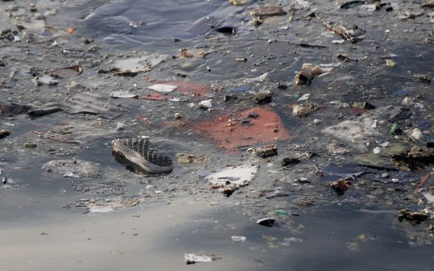 Debris from the crashed Lion Air passenger jet in the sea off the coast of Tanjung Pakis Karawang, Indonesia. Photograph: EPA