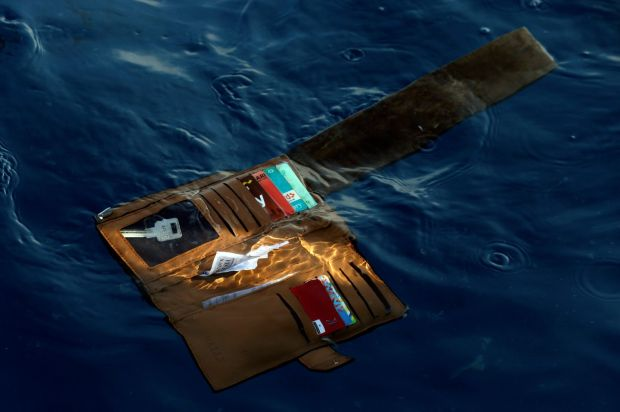 A wallet belonging to a victim of the Lion Air passenger jet in the waters of Ujung Karawang, West Java, Indonesia. Photograph: AP