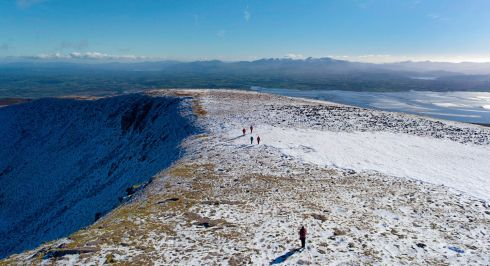 FIRST SNOW: The first scattering of snow on the summit of Caherconree, Sliabh Mish, Dingle peninsula, Killarney, Co Kerry. Photograph: Valerie O'Sullivan