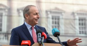 Fianna Fáil leader Micheál Martin: disagreed with the Taoiseach's assessment that the uncertainty of not having a new agreement weakened the Government's hand in Brexit negotiations. Photograph: Dara Mac Dónaill/The Irish Times