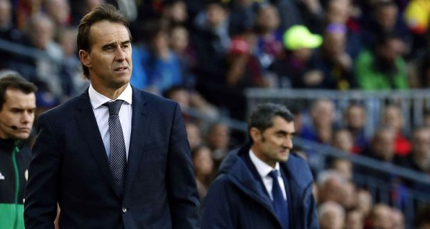 5552e7744 Julen Lopetegui has been sacked as Real Madrid coach after a 5-1 defeat to