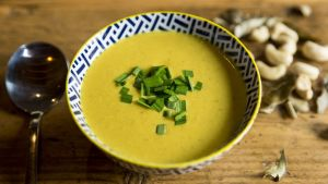 Spicy squash soup.  Photograph: Emma Jervis
