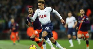 Dele Alli has signed a new deal with Tottenham until 2024. Photograph: Richard Heathcote/Getty