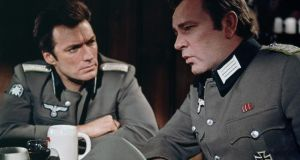 "Clint Eastwood and Richard Burton on the set of ""Where Eagles Dare"": ""Broadsword Calling Danny Boy"" manages to stay lively while talking us through the entire plot of the film. Photograph: Sunset Boulevard/Corbis"