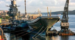 Russia's aircraft carrier Admiral Kuznetsov in Murmansk in 2009.  Photograph: Vasily Maximov/AFP/Getty Images
