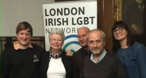 Joseph Healy with friends from the London Irish LGBT Network.