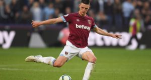 Declan Rice is set to commit his international future to England, according to reports. Photograph: Mike Hewitt/Getty