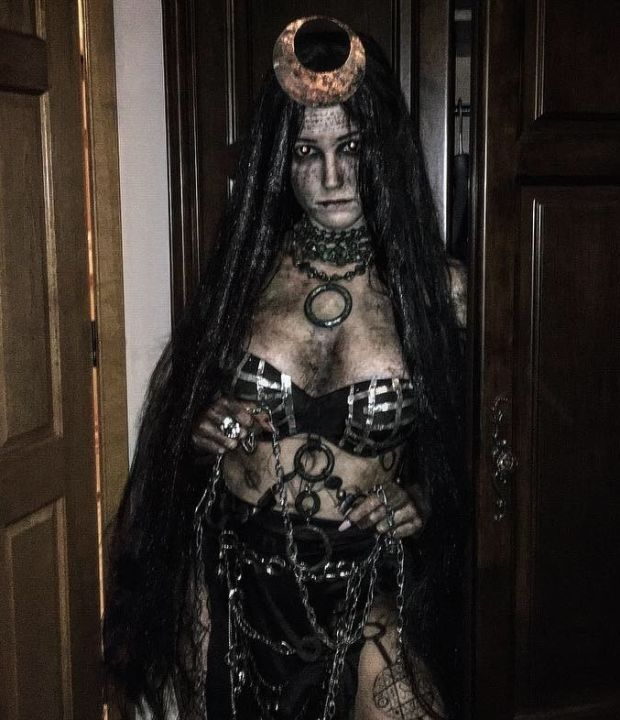 Enchantress from Suicide Squad. I handmade everything except the wig! Photograph: Fiona O'Kelly