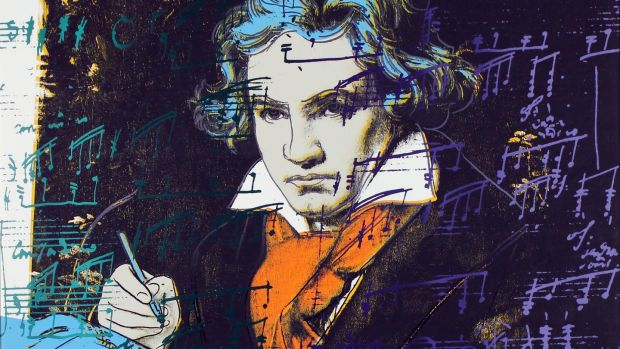 Andy Warhol Beethoven screenprint, being shown by Gormleys's Fine Art at the RDS